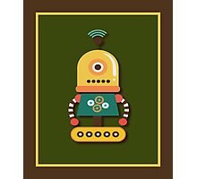 Quirky Retro Wind-up Robot Toy Photographic Print
