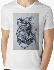 Back to the Future - Original mixed media Abstract painting Mens V-Neck T-Shirt