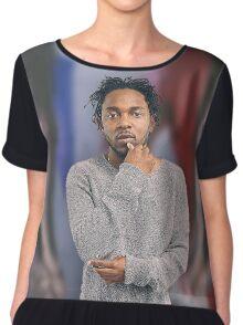 "Kendrick Lamar Portrait - ""i"" Chiffon Top"