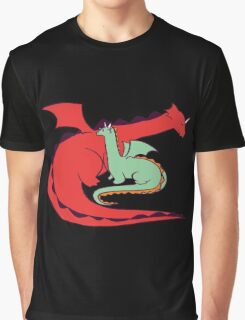 Red and Green Dragon Graphic T-Shirt