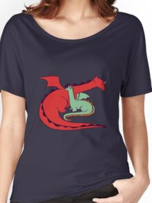 Red and Green Dragon Women's Relaxed Fit T-Shirt