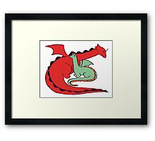 Red and Green Dragon Framed Print
