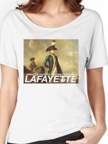 America's favorite fighting Frenchman — Lafayette! Women's Relaxed Fit T-Shirt