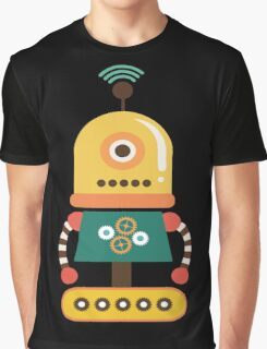 Quirky Retro Wind-up Robot Toy Graphic T-Shirt