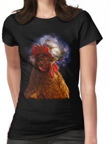 Chicken Galaxy Womens Fitted T-Shirt