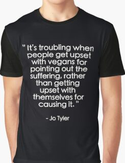 Earthlings Quote - Veganism Graphic T-Shirt