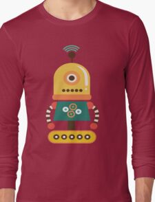 Quirky Retro Wind-up Robot Toy Long Sleeve T-Shirt