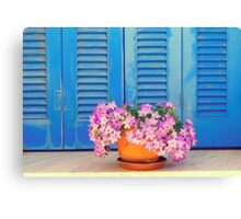 Blue & Purple Canvas Print