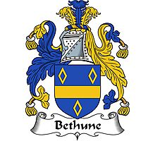 Bethune Coat of Arms / Bethune Family Crest Photographic Print