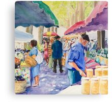 French market Canvas Print
