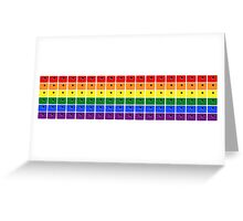 LGBT Rainbow Porthole - WHITE - Style 3 Greeting Card