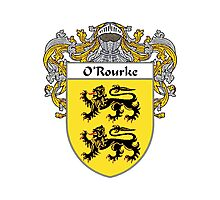 O'Rourke Coat of Arms / O'Rourke Family Crest Photographic Print