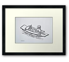 Floating Market Vendor Framed Print