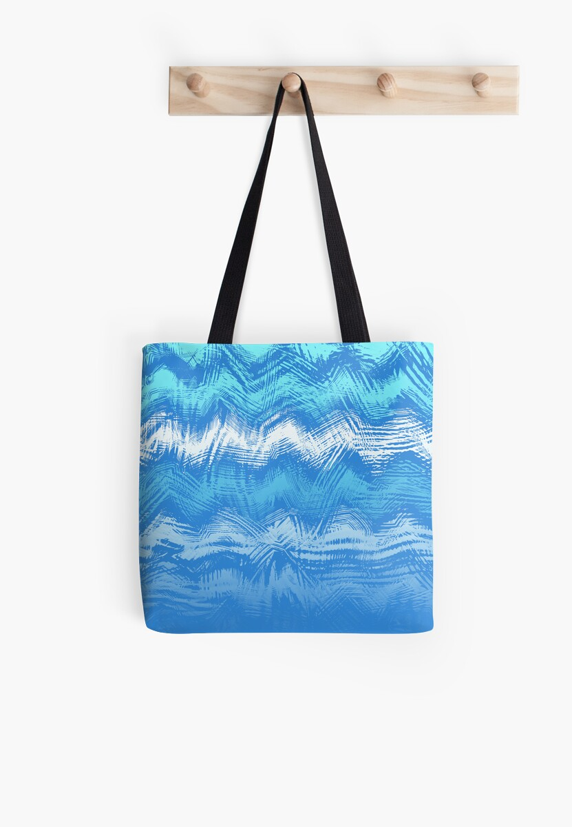 Makin' Waves 2of 3 (see description) Blue Pattern Cushion and Tote Bag by Ra12