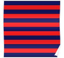 Blue & Red Navy Magic Stripes Summer Design Set Poster