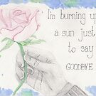 """""""I'm burning up a sun just to say goodbye"""" - Doctor Who quote by sawardfish"""