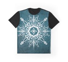 Mandala Teal and White Graphic T-Shirt