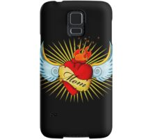 Old School Mom's Heart Samsung Galaxy Case/Skin