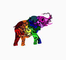 Regenbogen Elefant Unisex T-Shirt