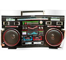 Huge Boombox Ghetto Blaster Poster