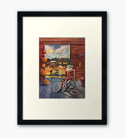 The Jester Waits Framed Print