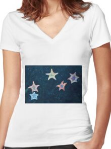 Five Starfish Women's Fitted V-Neck T-Shirt