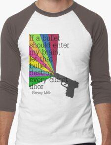 'If a bullet should enter my brain...' Men's Baseball ¾ T-Shirt
