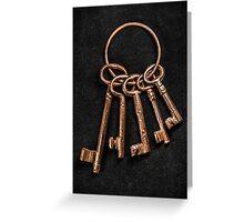 Medieval Keys Greeting Card