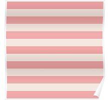 Pink and White Magic Stripes Summer Design Set Poster