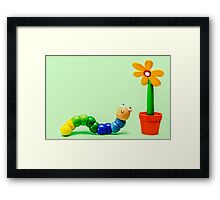 Caterpillar and Flower Framed Print