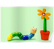 Caterpillar and Flower Poster