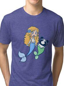 Mermaid and MerPanda Tri-blend T-Shirt