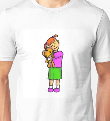 A girl and her dog Unisex T-Shirt
