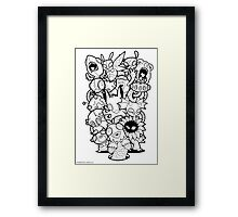 The Monsters In My Mind Framed Print