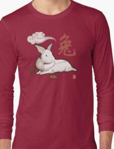 Lionhead Rabbit Sumi-E Long Sleeve T-Shirt