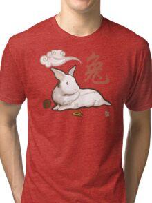 Lionhead Rabbit Sumi-E Tri-blend T-Shirt