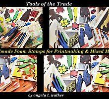 Printmaking Tools: Custom Made Foam Stamps by © Angela L Walker