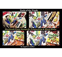 Printmaking Tools: Custom Made Foam Stamps Photographic Print