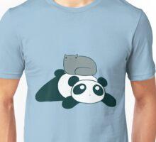 Panda and Gray Cat Unisex T-Shirt