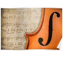 Antique Violin Poster
