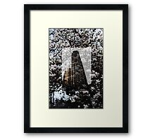 nature vs manmade  Framed Print