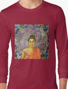 Sacred Geometry Buddha Long Sleeve T-Shirt