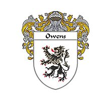 Owens Coat of Arms / Owens Family Crest Photographic Print