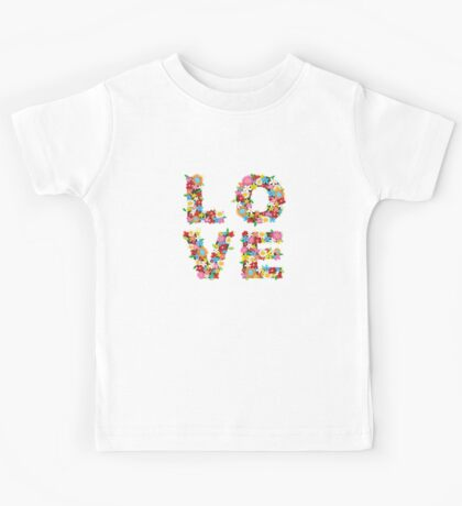 LOVE Spring Flowers Kids Tee