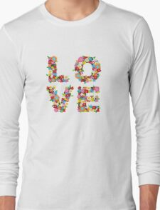 LOVE Spring Flowers Long Sleeve T-Shirt