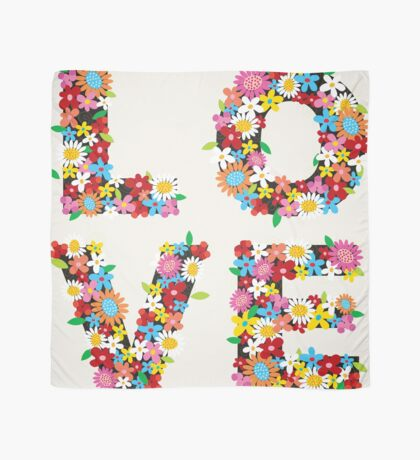 LOVE Spring Flowers Scarf