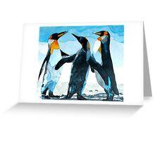 Three Penguins Greeting Card