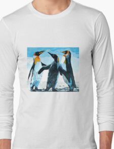 Three Penguins Long Sleeve T-Shirt