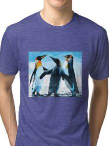 Three Penguins Tri-blend T-Shirt