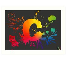 Cosplay Flag/symbol black Art Print